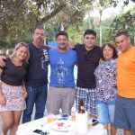 Frank, Dércio, Roberto e Julia